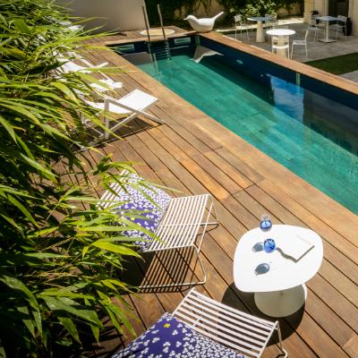 terrasse piscine hotel particulier béziers hôtel de charme 4 étoiles