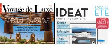 Couvertures Voyage de luxe IDEAT presse
