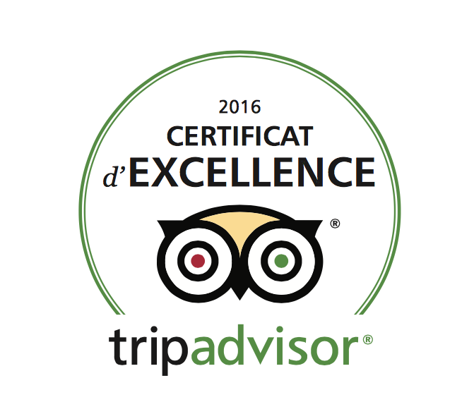 certificat excellence tripadvisor hotel particulier beziers